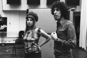 Barbra Streisand and Richard Perry in the studio at a recording session 1971 © 1978 Ed Thrasher - Image 2995_0500