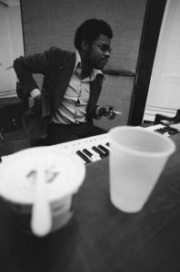 """Billy Preston at the Barbra Streisand recording session for the album """"Barbra Joan Streisand""""1971 © 1978 Ed Thrasher - Image 2995_0505"""