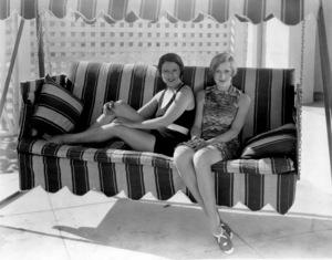 Norma Talmadge and Constance Talmadgeat a beach house in  Santa Monica,circa late 1920