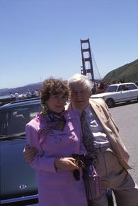 Peter Ustinov and Helene du Lau d Allemans