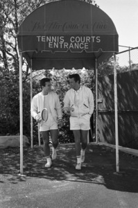 Robert Wagner and Robert Conrad at the Bel-Air Country Club tennis courtscirca 1960 © 1978 David Sutton - Image 3064_0844