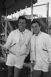 Robert Wagner and Robert Conrad at the Bel-Air Country Club tennis courtscirca 1960 © 1978 David Sutton - Image 3064_0845