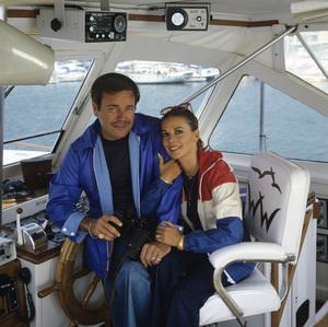 "Natalie Wood and Robert Wagner aboard ""Splendour"" in Marina del Rey, CA July 7, 1978 © 1978 Jason Hailey - Image 3064_0850"