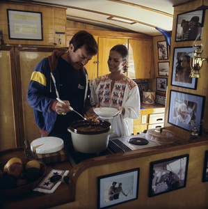 "Natalie Wood and Robert Wagner aboard ""Splendour"" in Marina del Rey, CA July 7, 1978 © 1978 Jason Hailey - Image 3064_0851"