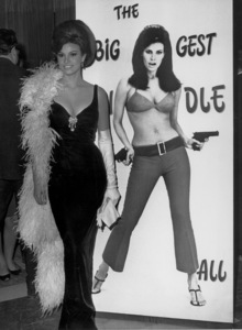 "Raquel Welchat a Rome party promotingher upcoming movie ""The BiggestBundle of Them All""/1966 - Image 3084_0001"