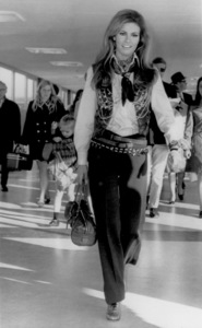 Raquel Welch arriving at London Airport1969 - Image 3084_0105
