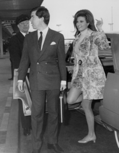 Raquel Welch in Pariswith her Fiance Patrick Curtis1967 - Image 3084_0114
