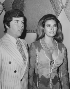 """Raquel Welch with husbandPatrick Curtis at the premiere of""""Myra Breckenridge""""1970 - Image 3084_0122"""
