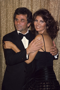 Raquel Welch and Peter Falkcirca 1970s © 1978 Gary Lewis - Image 3084_0198
