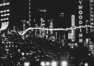 Hollywood and Los Angeles LandmarksHollywood Blvd., c. 1960