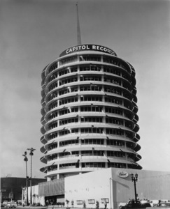 Hollywood and Los Angeles LandmarksCapitol Records Tower. © 1978 David Sutton - Image 3250_0054
