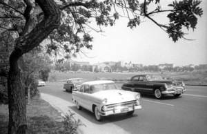 Sunset Blvd. (Westwood Village in the background)1955© 1978 Bob Willoughby - Image 3250_0094