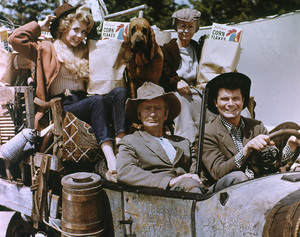 "Donna Douglas, Irene Ryan, Buddy Ebsen, Max Baer Jr.Film Set, c. 1964""Beverly Hillbillies, The"" (0055662) © 1978 Glenn Embree - Image 3265_0066"