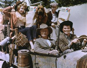 "Donna Douglas, Irene Ryan, Buddy Ebsen, Max Baer Jr.Film Set, c. 1964""Beverly Hillbillies, The"" (0055662) © 1978 Glenn Embree - Image 3265_0066"