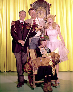 """The Beverly Hillbillies""Buddy Ebsen, Max Baer Jr.,Donna Douglas, Irene Ryanc. 1967Photo by Gabi Rona - Image 3265_0111"