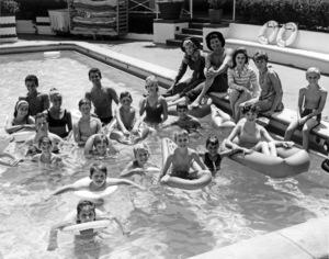 """The Beverly Hillbillies""Angela Cartwright, Ron Howard, John Provost, Donna Douglas, Max Baer Jr., Judy Carne, Jay North1962Photo by Gabi Rona - Image 3265_0159"