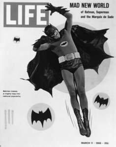 """Batman""Adam West on the cover of LIFE MagazineMarch 1966 - Image 3285_0184"