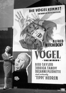 """""""The Birds""""Tippi Hedren at a European publicity tour.1963 Universal**I.V. - Image 3302_0024"""