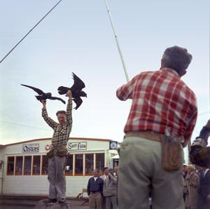 """""""The Birds"""" movie set at Bodega Bay in California1961 © 1978 John Bressie - Image 3302_0070"""