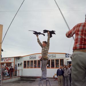 """""""The Birds"""" movie set at Bodega Bay in California1961 © 1978 John Bressie - Image 3302_0071"""