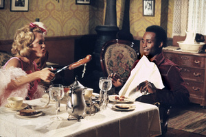 """Blazing Saddles""Madeline Kahn, Cleavon Little © 1974 Warner Brothers** I.V. - Image 3306_0334"