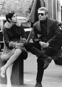 """Bullitt""Steve McQueen and wife Neile behind the scenes1968 Warner BrothersPhoto by Mel Traxel - Image 3321_0118"