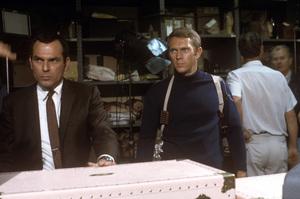 """""""Bullitt""""Don Gordon, Steve McQueen1968 Solar ProductionsPhoto by Mel Traxel** I.V. - Image 3321_0309"""