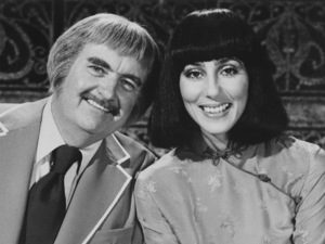 """Captain Kangaroo""Bob Keeshan, Cher Bonocirca 1973Photo by Gabi Rona - Image 3335_0001"