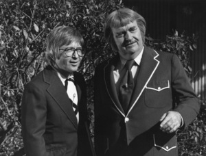 """Captain Kangaroo""Arte Johnson, Bob Keeshan1978Photo by Gabi Rona - Image 3335_0012"