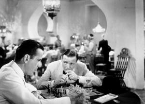 """Casablanca""Humphrey Bogart and Peter Lorre1942 Warner Bros.MPTV - Image 3339_0307"