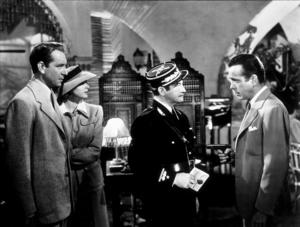 """Casablanca""Paul Henreid, Ingrid Bergman, Claude Rains, and Humphrey Bogart 1942 Warner Bros.MPTV - Image 3339_0308"