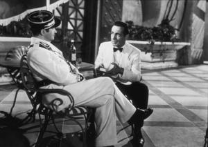 """Casablanca""Claude Rains and Humphrey Bogart 1942 Warner Bros.MPTV - Image 3339_0311"