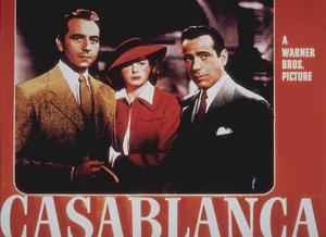 """Casablanca"" lobby card Paul Henreid, Ingrid Bergman, and Humphrey Bogart 1942 Warner Bros.MPTV - Image 3339_0321"