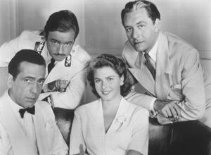 """Casablanca"" Humphrey Bogart, ClaudeRains, Paul Henreid and Ingrid Bergman1942 Warner**I.V. - Image 3339_0361"