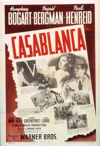 """""""Casablanca""""Poster1942 Warner Brothers**I.V. - Image 3339_0370"""