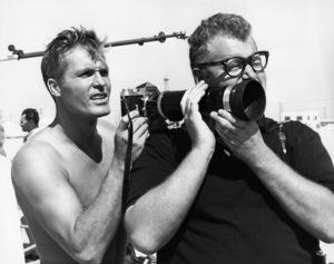 "Ty Hardin on the set of ""The Chapman Report""1962 20th Century-Fox** B.D.M. - Image 3346_0110"