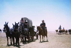 """The Cowboys,"" Warner Bros. 1971.Roscoe Lee Browne and John Wayne. © 1978 David Sutton - Image 3370_0172"