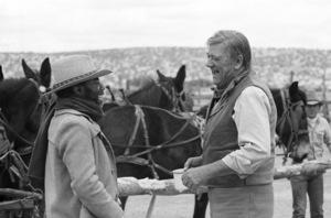 """The Cowboys""Roscoe Lee Browne, John Wayne1972 © 1978 David Sutton - Image 3370_0801"