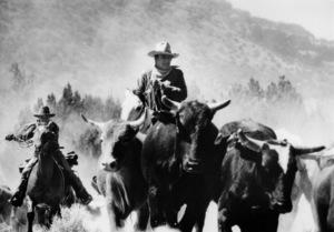 """John Wayne riding a horse for """"The Cowboys""""1971© 1978 David Sutton - Image 3370_12"""