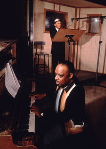 Frank Sinatra and Count Basie at a recording session, 1963. © 1978 Ted AllanMPTV - Image 337_1138