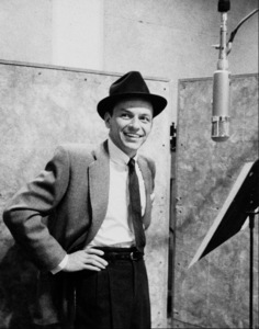 """Frank Sinatra at """"The Man with the Golden Arm"""" recording session, Hollywood, CA, 1955. © 1978 Bob Willoughby / MPTV - Image 337_1683B"""