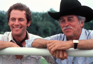 """Dallas""Jared Martin, Howard Keel1982 © 1982 Gene Trindl - Image 3379_0148"