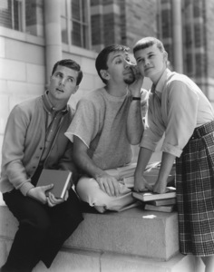 """The Many Loves of Dobie Gillis""Dwayne Hickman, Bob Denver, Sheila James Kuehl1960Photo by Gabi Rona - Image 3397_0010"
