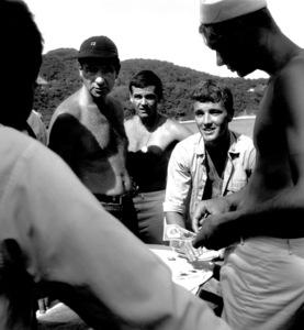"Walter Matthau, Jack Nicholson, Robert WalkerFilm Set""Ensign Pulver"" 1964Copyright John Swope Trust / MPTV - Image 3415_0105"