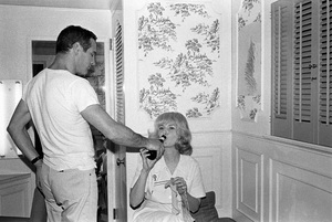 "Paul Newman with Joanne Woodward on the set of ""A Fine Madness""1966 Warner Brothers © 1978 David Sutton - Image 3428_0155"