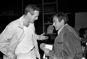 """Paul Newman and Sean Connery on the set of """"A Fine Madness""""1966 Warner Brothers © 1978 David Sutton - Image 3428_0160"""