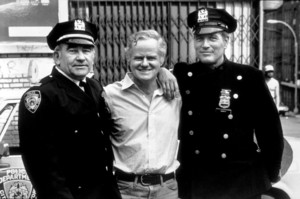 """Fort Apache, The Bronx,""Ed Asner, Director Daniel Petrie,& Paul Newman. © 1980 20th Century Fox - Image 3437_0015"