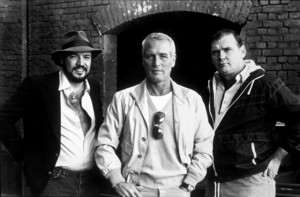 """""""Fort Apache the Bronx"""" Paul Newman with real ex-cops Pete Tessitore and Tom Mulhearn 1981 - Image 3437_0016"""