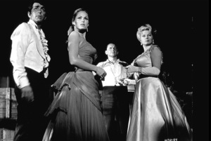 """Four For Texas""Dean Martin, Ursula Andress, Frank Sinatra, Anita Ekberg.  1963 / Warner - Image 3438_0001"