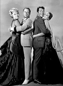 """Four For Texas""Ursula Andress, Frank Sinatra, Dean Martin, Anita Ekberg.  1963 / Warner - Image 3438_0003"